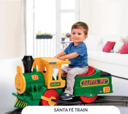Электропоезд Santa Fe Train Green Peg Perego