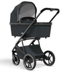 Детская коляска Moon Style 2в1 Black/Chrome (444) 2021